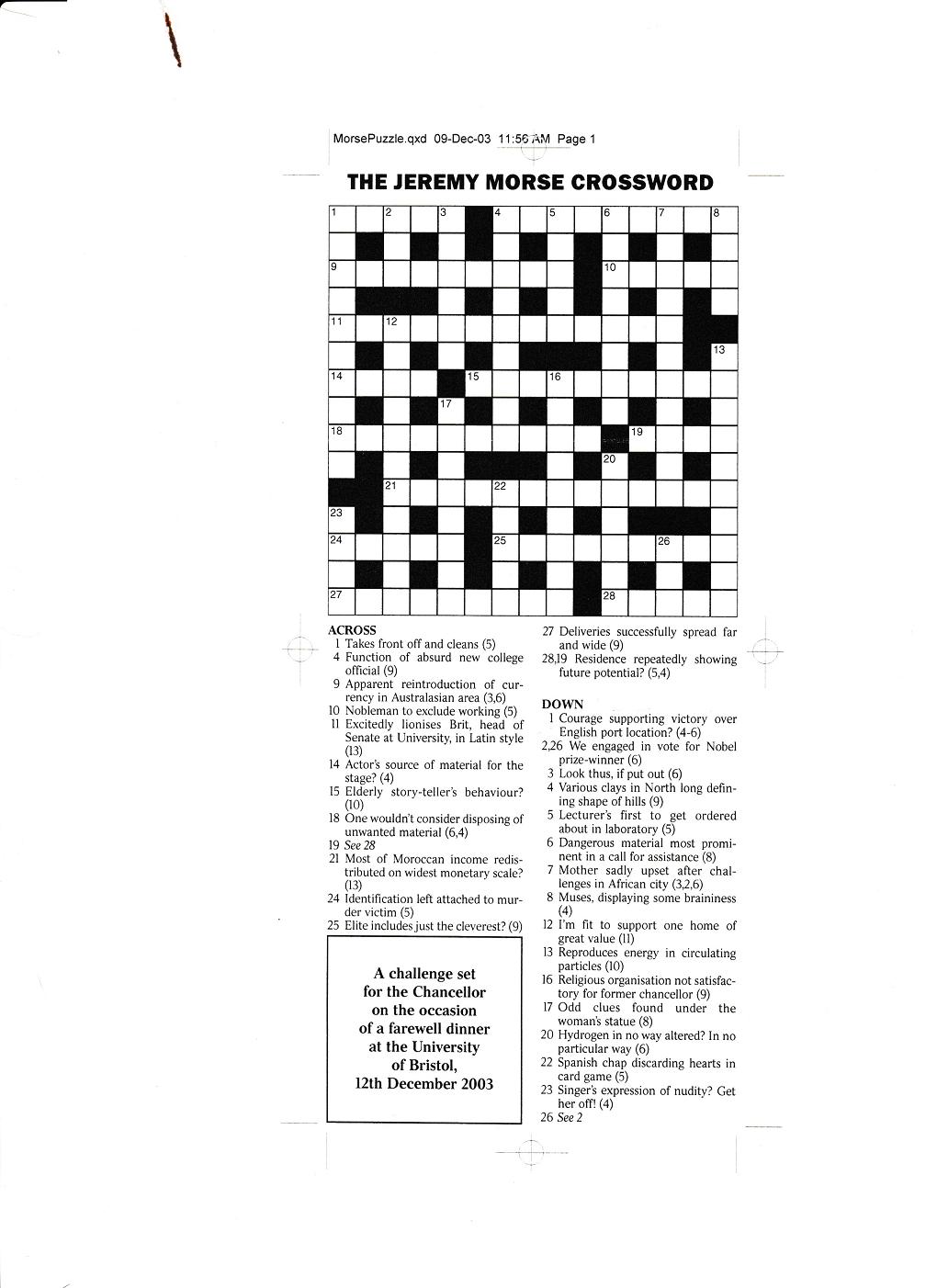 Morse puzzle