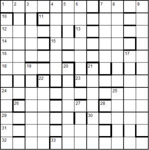 Unfilled puzzle grid
