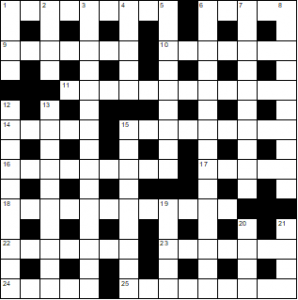 Blank puzzle grid